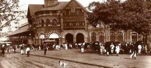 Crawford Market Bombay vintage photograph