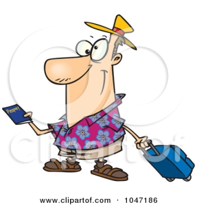 1047186-Cartoon-Traveler-Holding-A-Passport