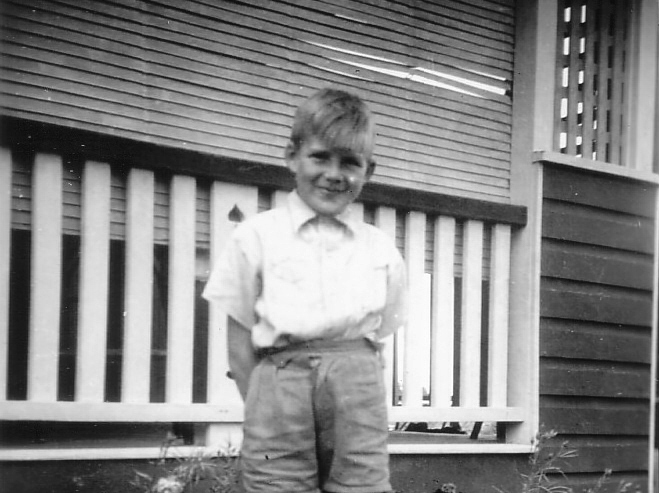 1945 Me at Excelsior Rd in 40's a